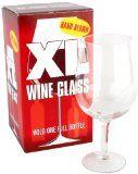 Jumbo wine glass, it holds a whole glass of wine!
