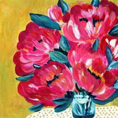 original floral painting original art affordable art abstract