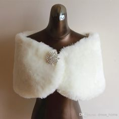 Stunning White Faux Fur Sleeveless Perfect For Winter Wedding Dress Bridal Jacket 2 4 6 8 Us Siz From Dress_home, $22.35 | Dhgate.Com