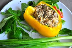 Bell Pepper Stuffed Sardine Salad -- Sardines are rich in calcium and other minerals, and vitamins A, D and B12, as well as fatty acids!