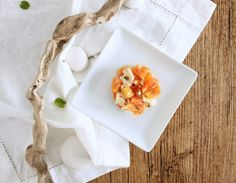 Finta tartare di arancio caciocavallo e noci! #lericettedivillacatervo