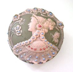 Very Rare Antique Jewelled Jasperware Plaque