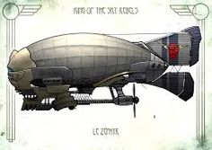 Image result for cyberpunk air ship