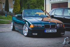 Boston green BMW e36 cabrio on OEM BMW Styling 19 (BBS RT) wheels