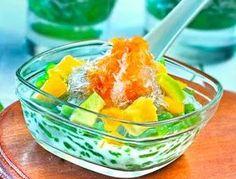 DAPUR RESEP 101: RESEP ES CENDOL MERIAH Ice Ice Baby, Fruit Punch, Dessert Recipes, Desserts, Fruit Salad, Punch Bowls, Sugar, Fish, Meat