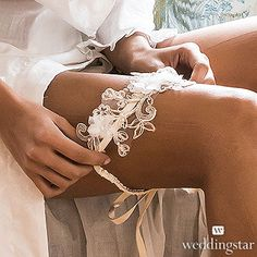Embroidered Appliqué Bridal Garter