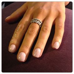 Candy pop shellac nails with platinum VIP