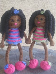 CROCHET PATTERN African Curly Haired Doll Plush by LeenGreenBean