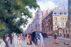 Street Scene in Paris, 1935-37 - Maximilien Luce - The Athenaeum