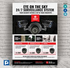 This CCTV Promotional Product Flyer Design has been develop to boost your marketing campaign. Flyer Design Templates, Psd Templates, Promo Flyer, Cctv Surveillance, Camera Shop, Marketing Opportunities, Bullet Camera, Logo Design, Graphic Design