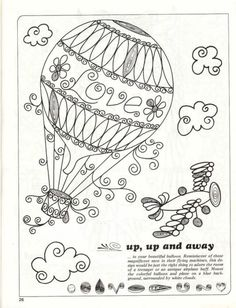 globo aerostatico dibujo antiguo - Buscar con Google