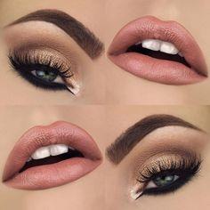 Nude eye makeup and matte pink lips Makeup Goals, Love Makeup, Makeup Inspo, Makeup Tips, Beauty Makeup, Hair Makeup, Makeup Ideas, Makeup Brands, Glam Makeup