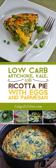 Low-Carb Artichoke, Kale, and Ricotta Pie with Eggs and Parmesan is a ...