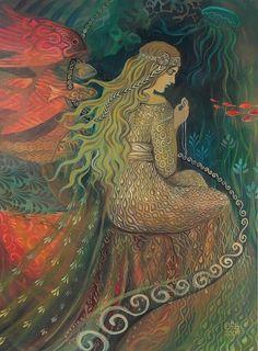 Neptuns Schatz Mermaid Göttin 11 X 14 Kunstdruck von EmilyBalivet