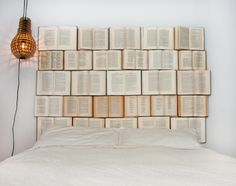 A novel headboard. | 22 Things That Belong In Every Bookworm's Dream Home