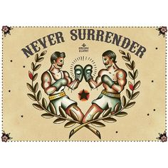 Never Surrender by Susana Alonso Boxer Tattoo Canvas Fine Art Print