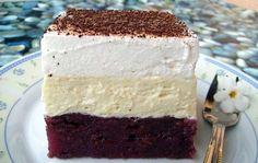 NEPEČENÉ krémové řezy s ovocem | NejRecept.cz Vanilla Cake, Desserts, Food, Tailgate Desserts, Deserts, Essen, Postres, Meals, Dessert