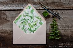 NEW fern envelope liner