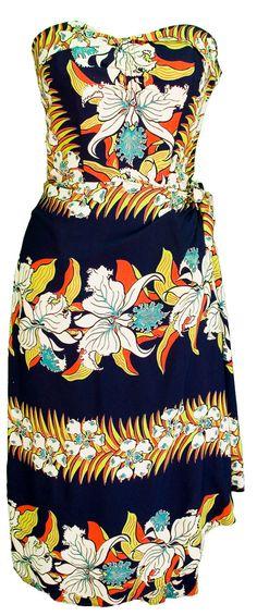 années 1950 petite robe bustier rayonne orchidée par TopangaHiddenT
