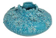 """6"""" Floral Vase, Blue on OneKingsLane.com"""