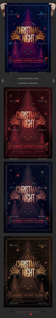 Christmas Night Flyer. Download: https://graphicriver.net/item/christmas-night-flyer/18705138?ref=thanhdesign