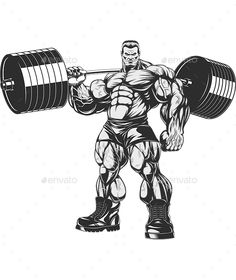 Bodybuilder with Dumbbells - Sports/Activity Conceptual Bodybuilding Logo, Bodybuilding Supplements, Bodybuilding Workouts, Bodybuilding Motivation, Gym Motivation Quotes, Fitness Motivation, Hulk Artwork, Bodybuilder, Silkscreen