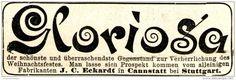 Original-Werbung/ Anzeige 1897 -  ECKARDT'S CHRISTBAUM- STÄNDER MIT MUSIK / GLORIOSA / CANNSTATT  - ca. 80 X 25 mm