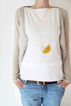 snug.geometric - circle necklace