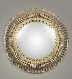 LINE VAUTRIN 1913 - 1997 MIROIR SORCIÈRE ROMAIN, VERS 1960 'ROMAIN', A STAINED TALOSEL RESIN AND GLASS CONVEX MIRROR BY LINE VAUTRIN, CIRCA ...