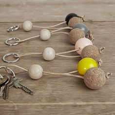 By Wirth Key Sphere Keychain Home Crafts, Diy And Crafts, Arts And Crafts, Pearl Crafts, Kids Bracelets, Beaded Garland, Key Fobs, Wooden Beads, Diy For Kids