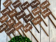 27 Pretty Backyard Lighting Ideas for Your Home - The Trending House Herb Labels, Garden Labels, Plant Labels, Herb Markers, Plant Markers, Succulent Centerpieces, Veg Garden, Garden Art, Garden Signs