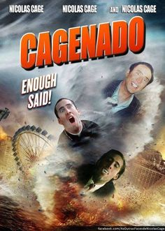 What's more terrifying than Sharknado?  Nicholas Cage, that's what.