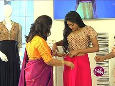 Properly Fitted Pleated Saree Draping by Dolly Jain - YouTube