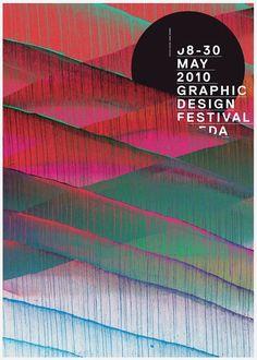 2010 Graphic Design Festival poster Alte, bekannte grafiken mit neuen design verbunden