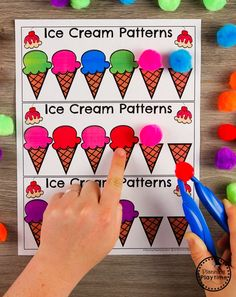Ice Cream Theme Join our Email Group for Ideas, Freebies & Special Offers.Do you teach an Ice Cream Theme at your preschool? If so, you'll want to check out Summer Preschool Themes, Preschool Centers, Preschool Education, Preschool Curriculum, Preschool Crafts, Preschool Printables, Preschool Math Activities, Preschool Classroom Themes, Homeschooling
