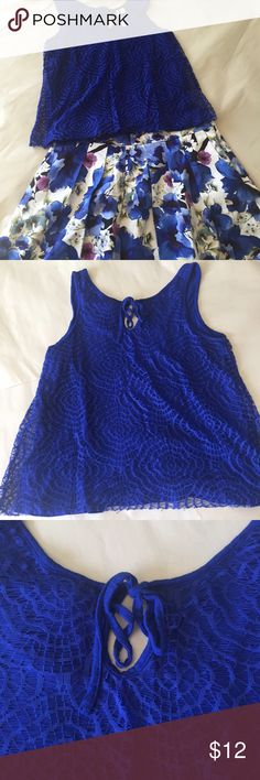 💎 LC Lauren Conrad top Size medium. Fully lined 100% nylon top LC Lauren Conrad Tops