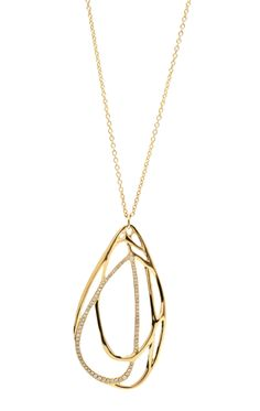 Ippolita | Drizzle Diamond Tear Drop necklace - Necklaces - 18K Gold