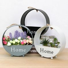 INS Iron Wall Hanging Planter Garden Succulent Flower Pot Stand Storage Flower Basket Home Decoration Pots For Flowers Bloempot Pot Storage, Wall Basket Storage, Baskets On Wall, Storage Shelves, Hanging Flower Baskets, Hanging Planters, Garden Planters, Hanging Terrarium, Flower Box Gift