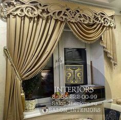 Luxury Curtains, Home Curtains, Curtains With Blinds, Panel Curtains, Classic Curtains, Elegant Curtains, Beautiful Curtains, Curtain Designs For Bedroom, Drapery Designs
