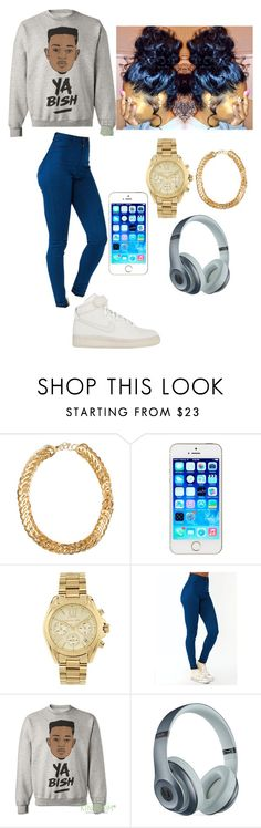 """Ehhh"" by trill-love-ish ❤ liked on Polyvore featuring SELECTED, Michael Kors, Beats by Dr. Dre and NIKE"