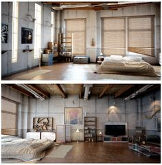 I would like to live in a studio apartment for a little while... I don't know but the openness just seems comforting or relaxing