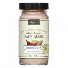 Thesis Organic Natural Facial Mask for Dry, Mature Skin - Nourishing, Skin Smoothing - Chocolate Heaven Anti Aging, Chocolate Face Mask, Organic Face Products, Beauty Products, Facial Products, Natural Products, Organic Facial, Natural Facial, Dry Skin On Face
