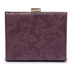 Special Case Burgundy Clutch ($37) ❤ liked on Polyvore featuring bags, handbags, clutches, snakeskin handbags, lulu purses, snake skin purse, structured purse and faux snakeskin handbags