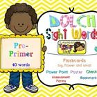 Complete 40 PRE-PRIMER Dolch Sight Words or high frequency words. Activities, Printables and Powerpoint Presentation's Slideshow for Teachers and S...