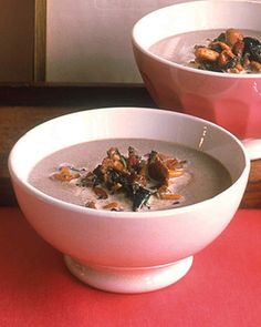 The wine adds sweetness to balance the earthy flavor of this rich soup.