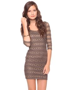 Great for Layering!!! Forever 21 Shimmery Lace Dress  $22.80