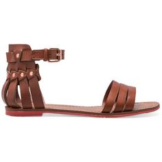 DV by Dolce Vita Daffodil Sandal (€35) ❤ liked on Polyvore featuring shoes, sandals, flats, sapatos, brown, brown shoes, brown flats, dolce vita, dolce vita flats and dolce vita sandals