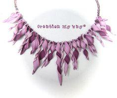 twisty pieced necklace. Inspiration
