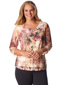 Floral Aztec Lace Front - Christopher & Banks