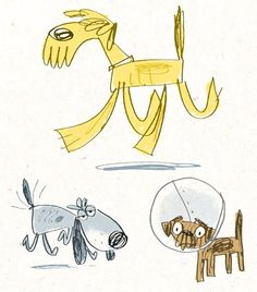 Fred Blunt Doodles... DOGS!